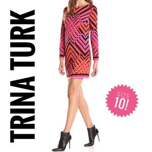 Trina Turk Cameilla geo matte jersey mini dress